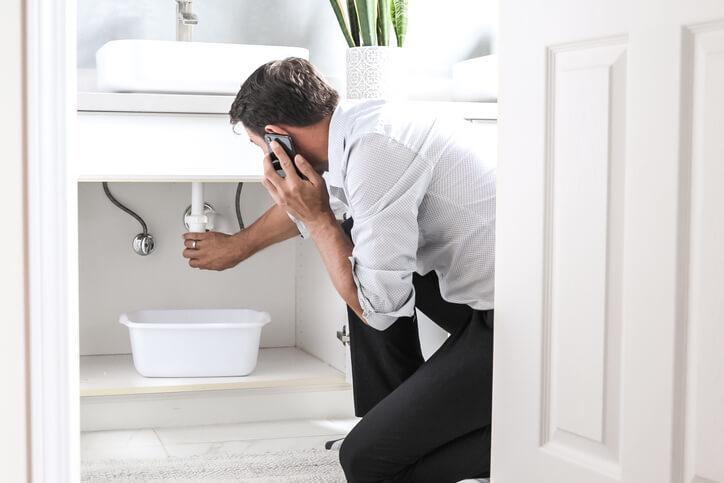 Man With Plumbing Problem